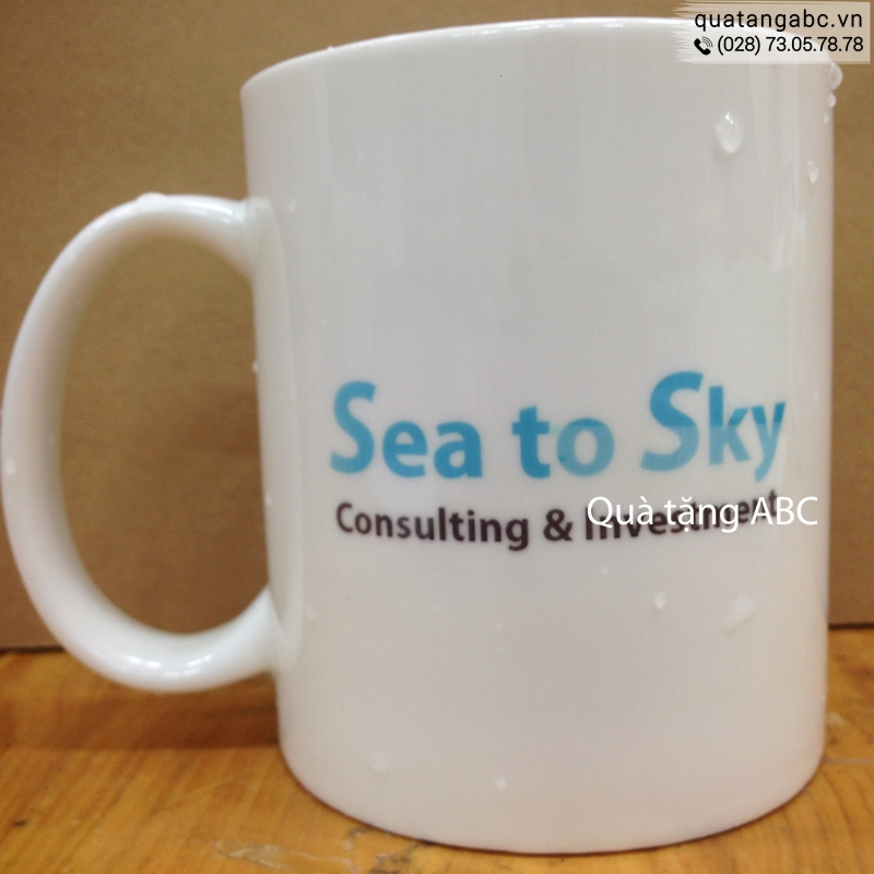 INLOGO in hình lên ly cho Công Ty TNHH Sea To Sky Consulting & Investment